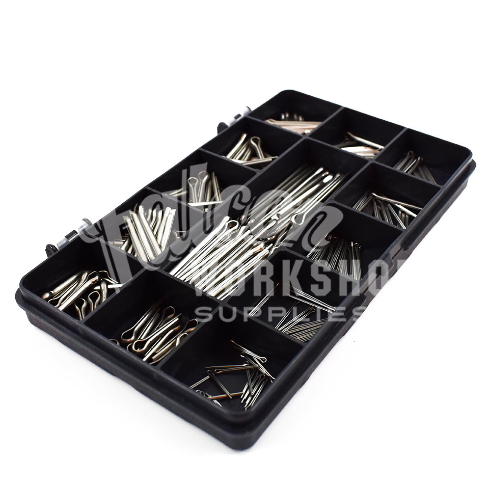250 Assorted Piece A2 Stainless Split Pins Cotter Pins 1mm
