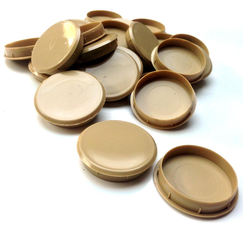 Mm lght oak plastic hinge hole cover caps for kithcen