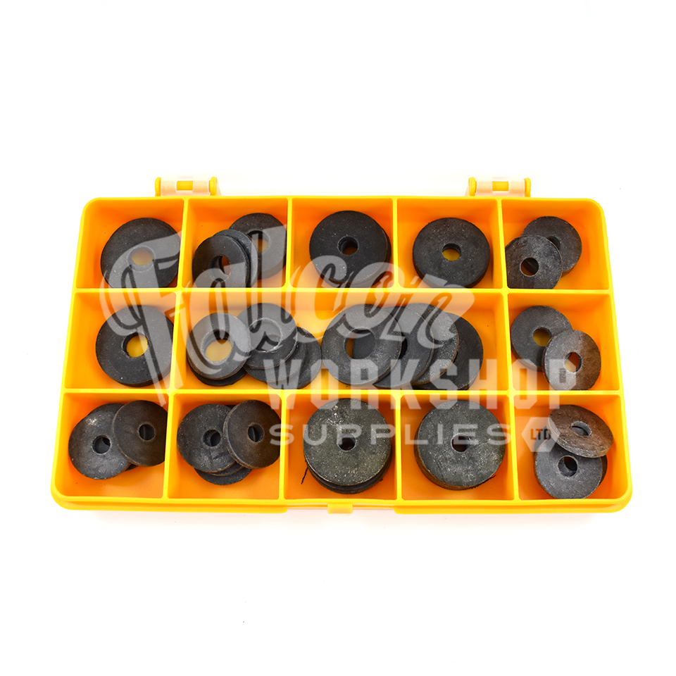 55 Assorted Piece Black Form A Rubber Penny Neoprene
