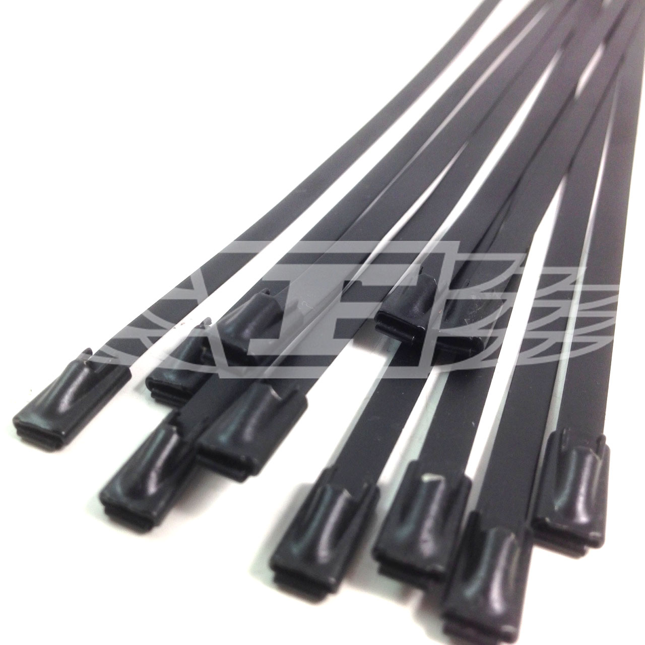 stainless steel black coated metal cable ties tie zip wrap
