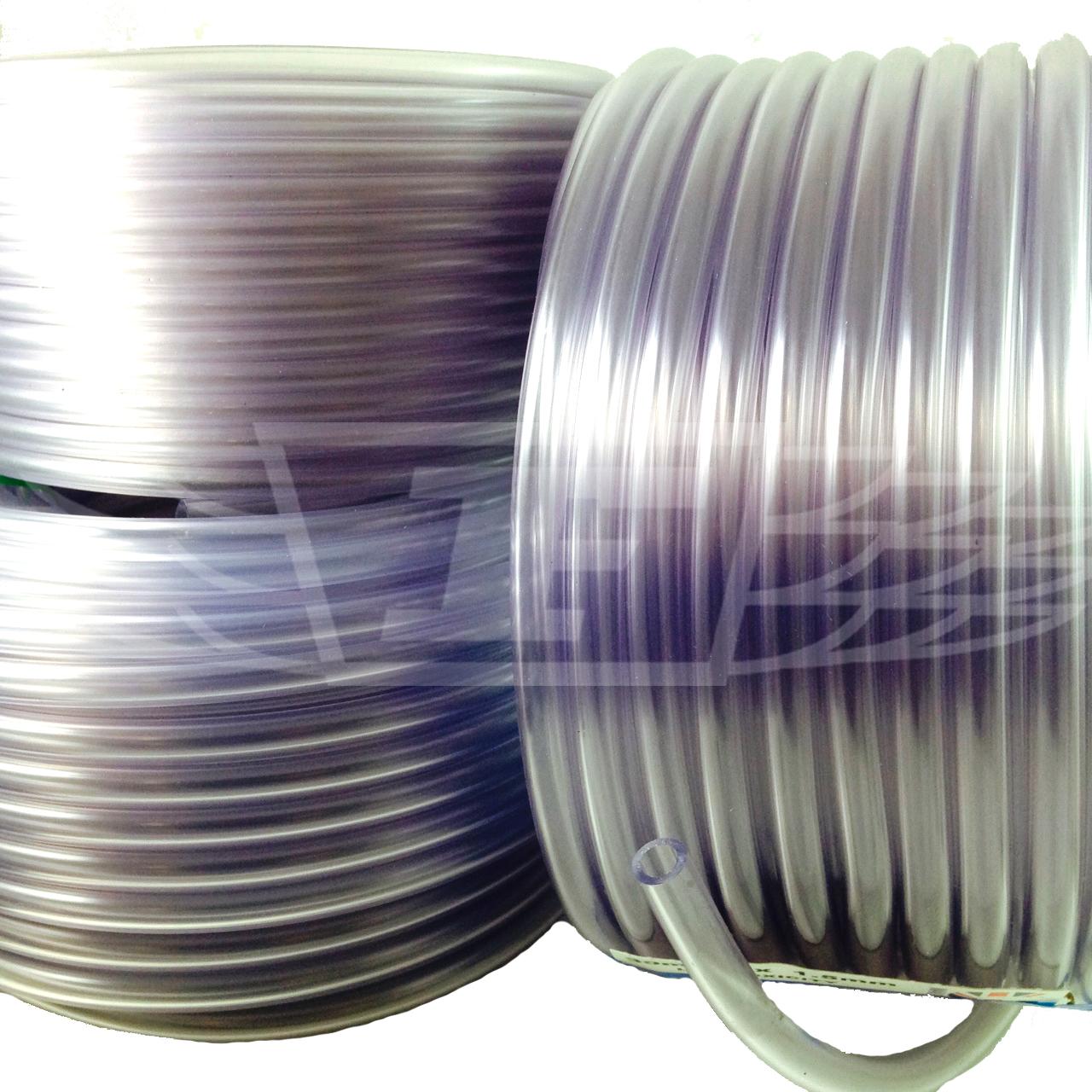 3 8 clear pvc tubing plastic flexible water hose pipe screen tube food. Black Bedroom Furniture Sets. Home Design Ideas