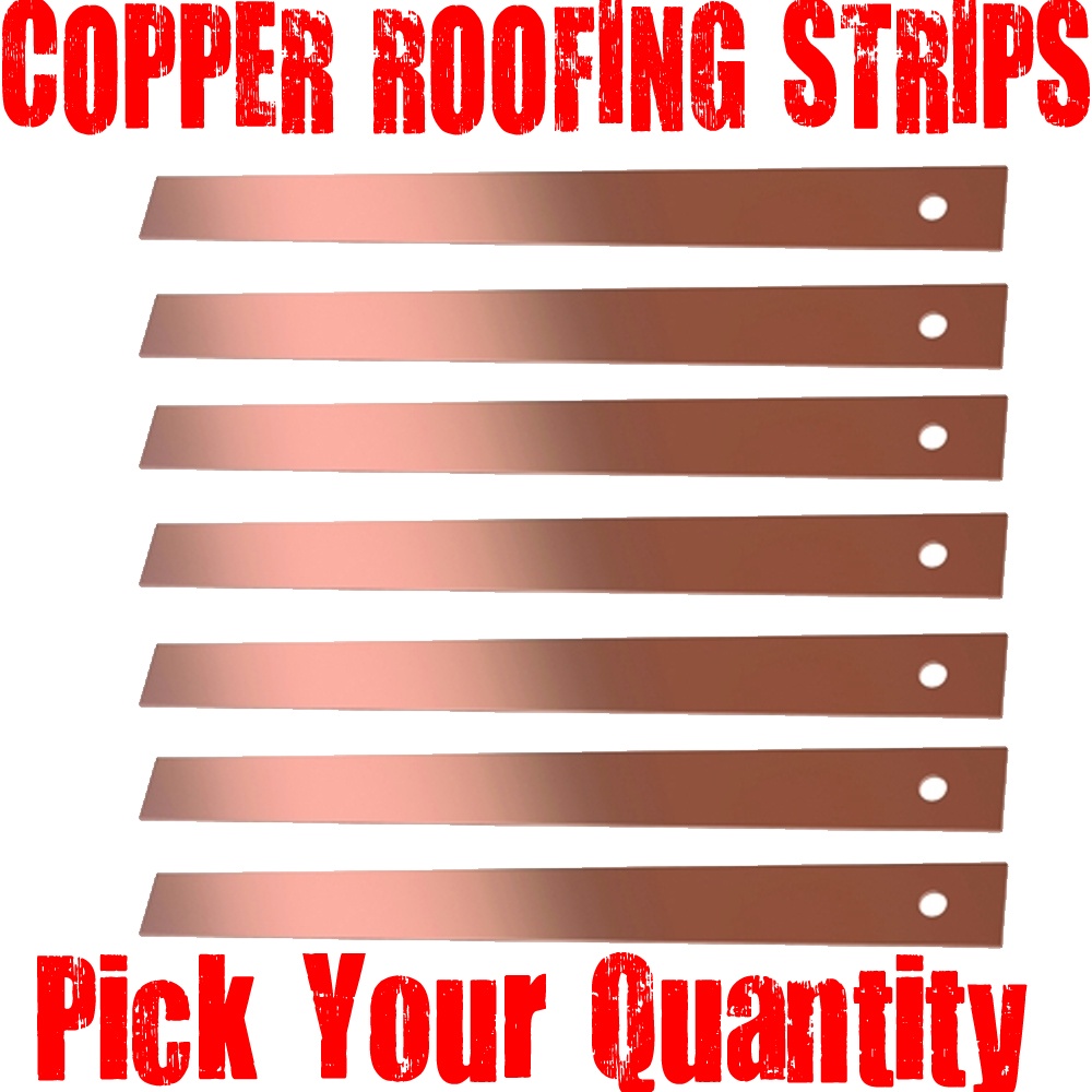 Copper strip for roof