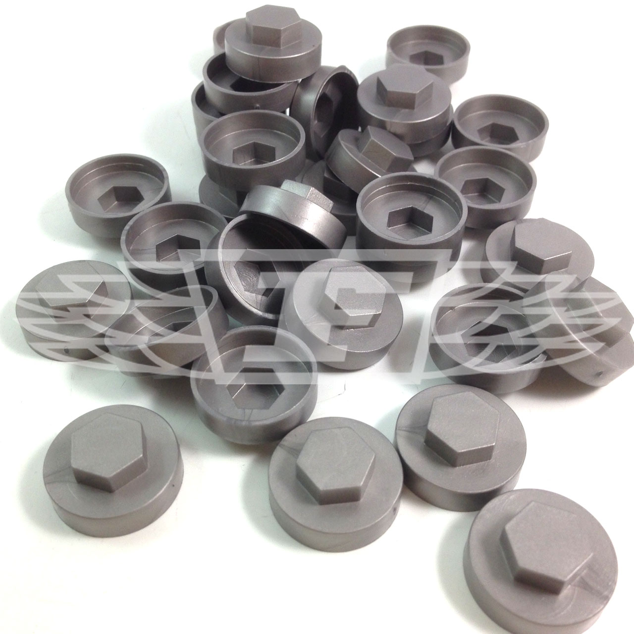 16mm dark silver hexagonal screw cover caps to fit 8mm 5. Black Bedroom Furniture Sets. Home Design Ideas