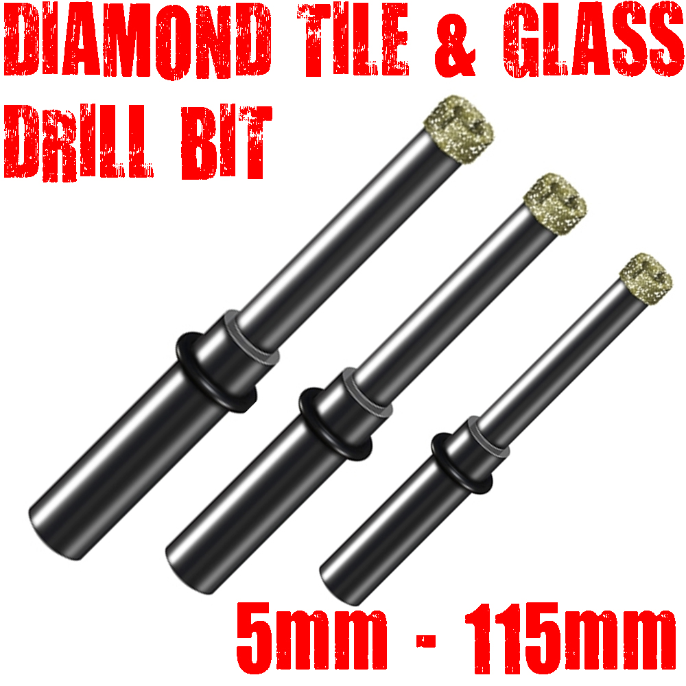 1, DIAMOND TILE & GLASS DRILL BIT CERAMICS GLASS SLATE ...