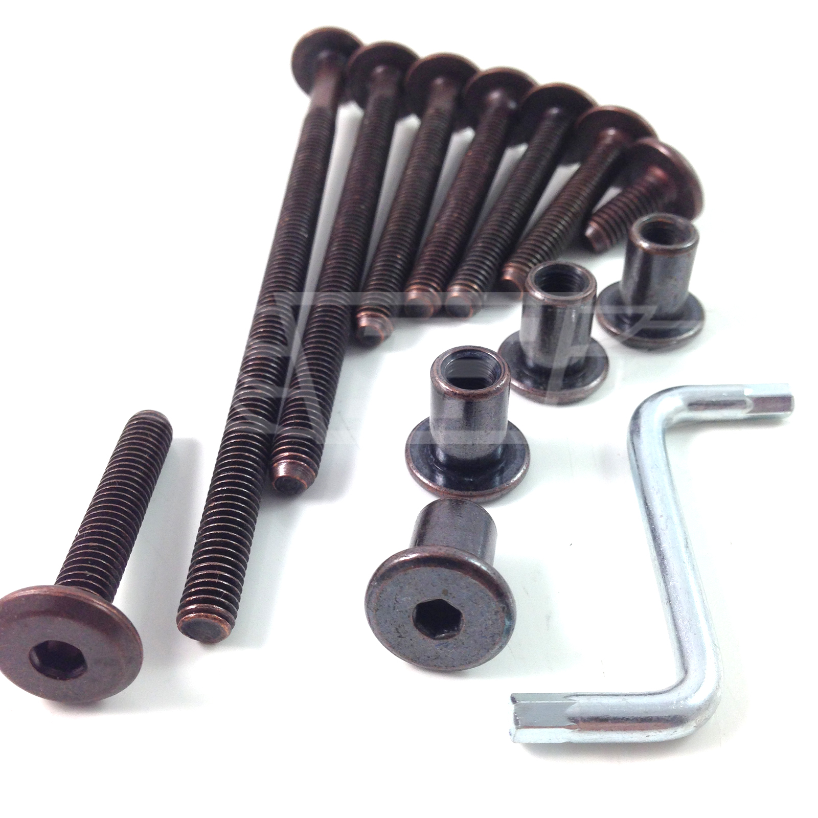 bronze furniture bolts complete with bronze connector nut On furniture joint connectors