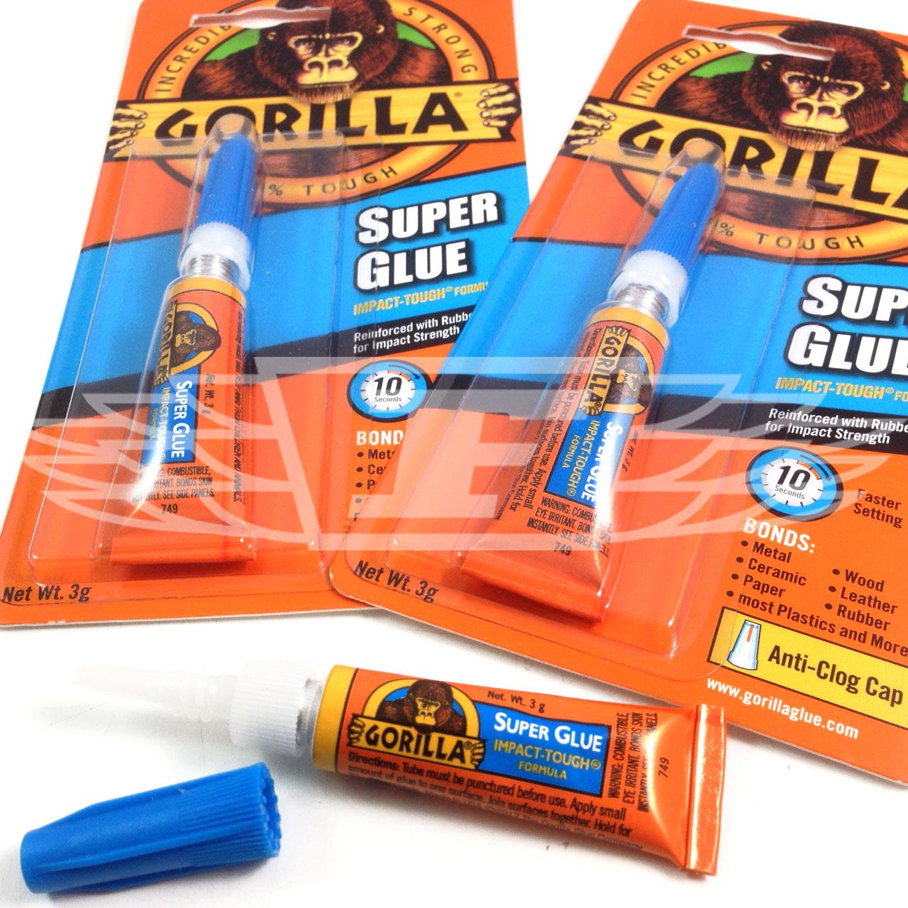 gorilla super glue 3g anti clog high strength new reinforced rubber strength ebay. Black Bedroom Furniture Sets. Home Design Ideas