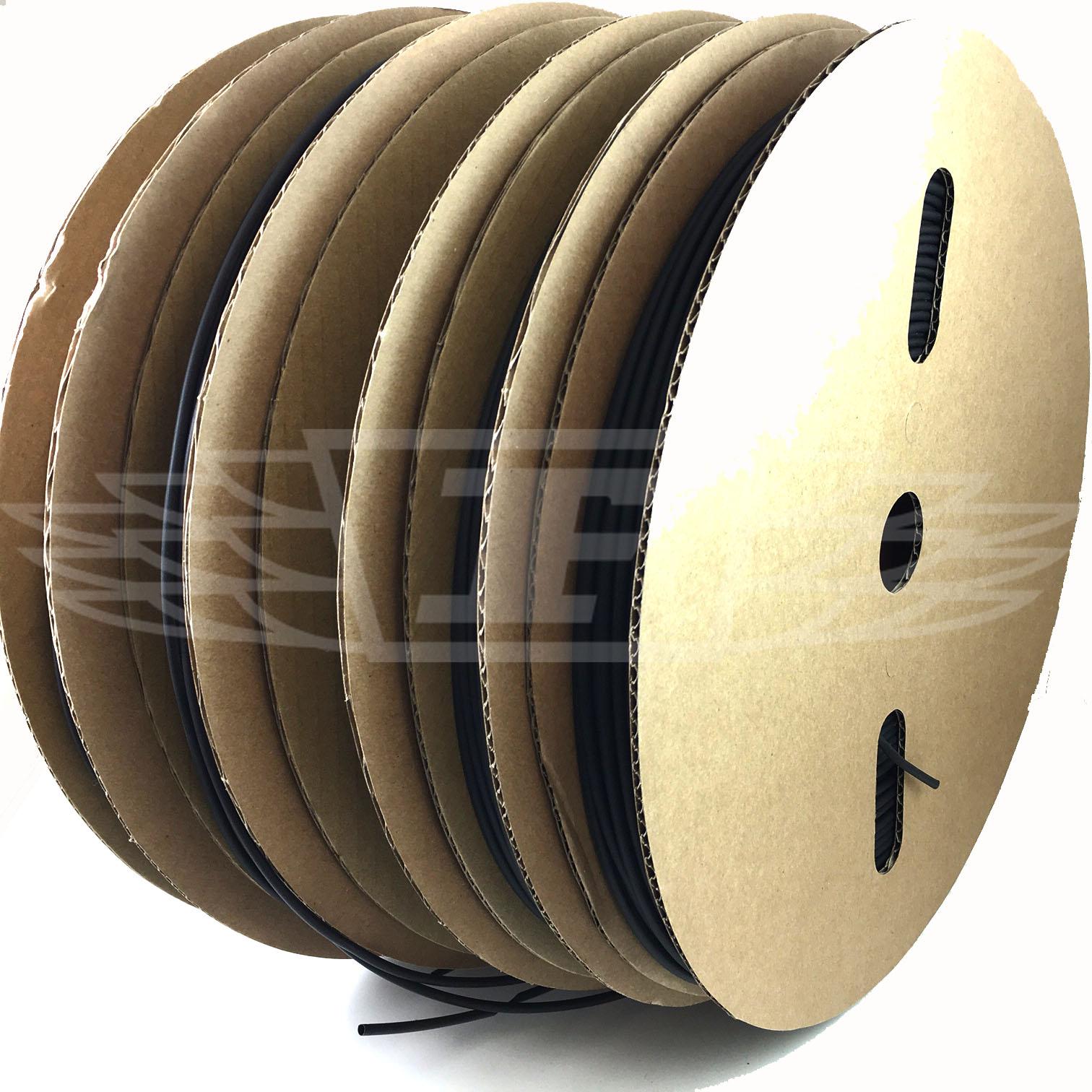 Shrink heat shrinkable sheath 1 metre-diameter 12,7mm Black