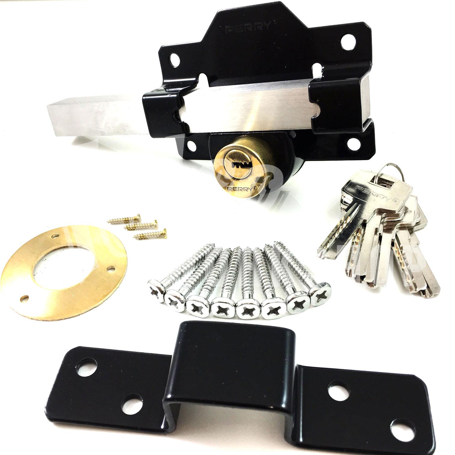 Long Lever Locking Locking Bar : Gate door lock cays pull handle double locking long throw