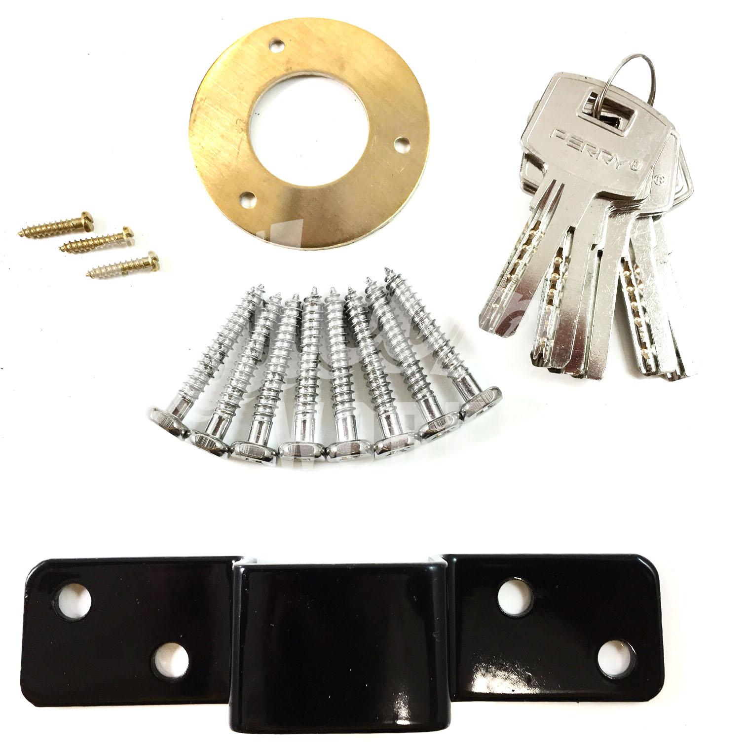 Long Lever Locking Locking Bar : Gate door lock pull handle double locking long throw