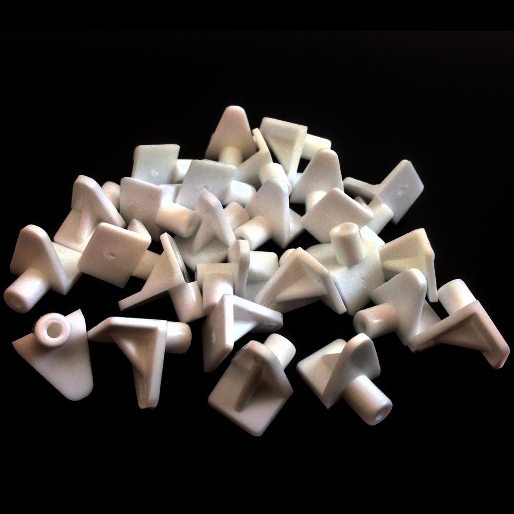 WHITE PLASTIC 5mm (M5) SHELF SUPPORT STUD PEGS KITCHEN