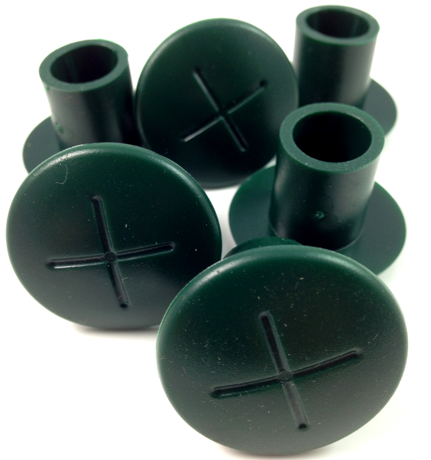 Garden cane protective green plastic caps fits mm to