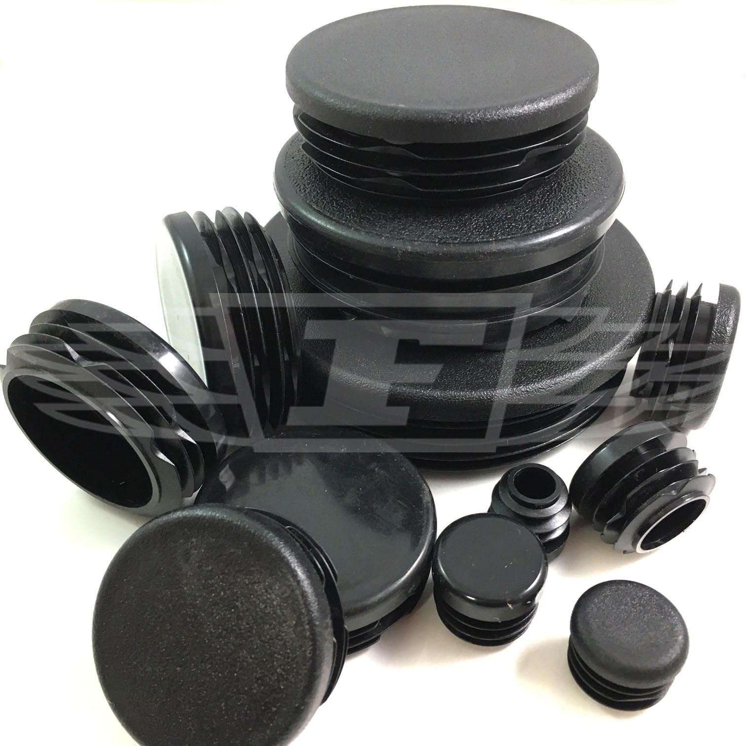 Round plastic black blanking end cap caps tube pipe