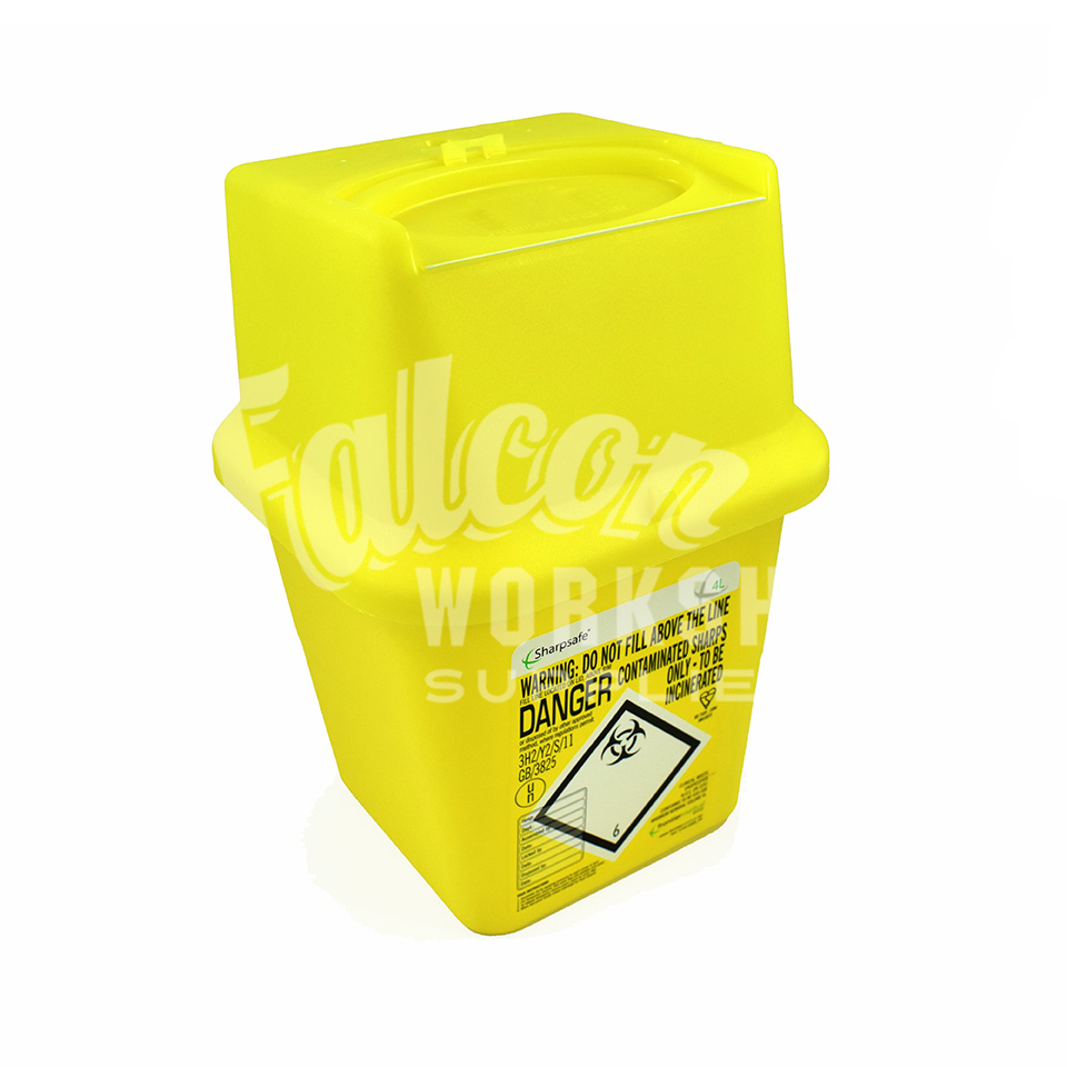 sharp disposal. 1 x sharps bins / needle waste disposal boxes sharp