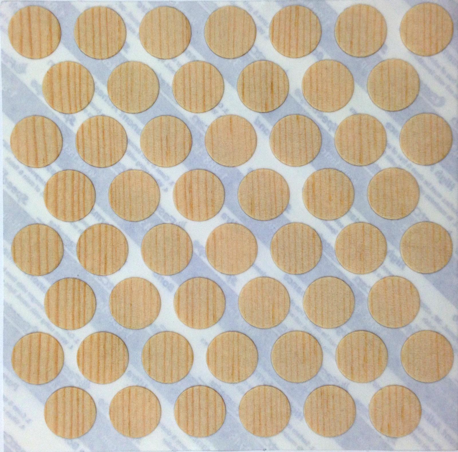 Self Adhesive Wood Veneer Screw Cover Cap Birch Teak