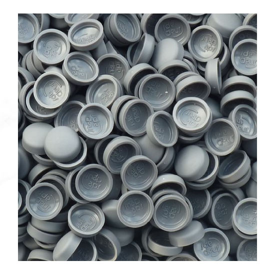 50 x SMALL OYSTER GREYTWO PIECE DOME SCREW CAP COVERS SNAP CAPS PRO-DEC FIXINGS