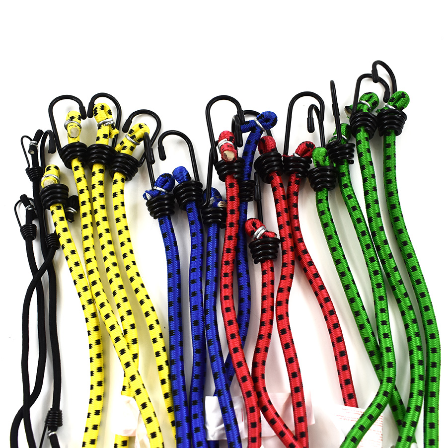 BUNGEE STRAPS SHOCK CORD SPIRAL HOOK ENDS MUSTARD YELLOW 6mm LUGGAGE ELASTICS