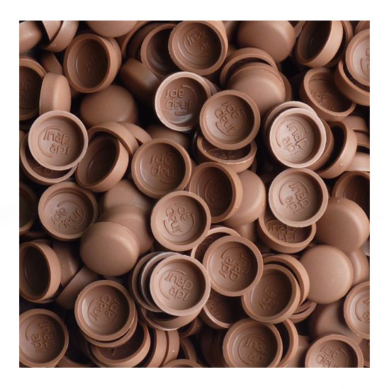 50 Woodrose marrón bifix Tapa Phillips Ph2 /& Pozidrive PZ2 POZI FWS